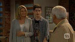 Kathy Carpenter, Bailey Turner, Lou Carpenter in Neighbours Episode 6948