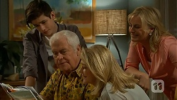 Bailey Turner, Lou Carpenter, Kathy Carpenter, Lauren Turner in Neighbours Episode 6949