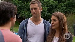 Chris Pappas, Mark Brennan, Paige Novak in Neighbours Episode 6953