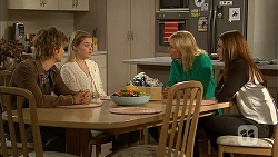 Daniel Robinson, Amber Turner, Lauren Turner, Paige Novak in Neighbours Episode 6954