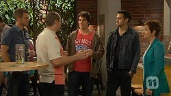 Mark Brennan, Toadie Rebecchi, Chris Pappas, Nate Kinski, Susan Kennedy in Neighbours Episode 6957