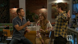 Mark Brennan, Sonya Mitchell, Kyle Canning in Neighbours Episode 6958