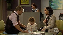 Toadie Rebecchi, Nell Rebecchi, Naomi Canning, Imogen Willis in Neighbours Episode 6959
