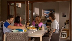 Josh Willis, Imogen Willis, Terese Willis, Brad Willis in Neighbours Episode 6960