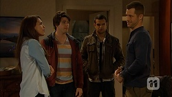 Paige Smith, Chris Pappas, Nate Kinski, Mark Brennan in Neighbours Episode 6960
