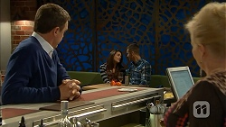 Paul Robinson, Paige Novak, Mark Brennan, Sheila Canning in Neighbours Episode 6961