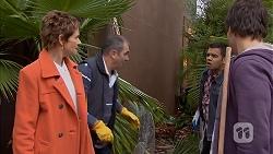 Susan Kennedy, Karl Kennedy, Nate Kinski, Chris Pappas in Neighbours Episode 6965