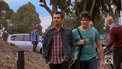 Nate Kinski, Chris Pappas in Neighbours Episode 6969