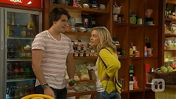 Chris Pappas, Georgia Brooks in Neighbours Episode 6974