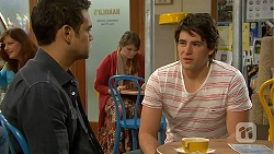 Nate Kinski, Chris Pappas in Neighbours Episode 6974
