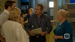 Kyle Canning, Georgia Brooks, Karl Kennedy, Sheila Canning in Neighbours Episode 6977