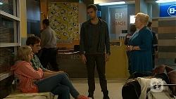 Georgia Brooks, Kyle Canning, Nate Kinski, Sheila Canning in Neighbours Episode 6977