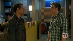 Nate Kinski, Kyle Canning in Neighbours Episode 6977