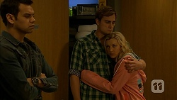 Nate Kinski, Kyle Canning, Georgia Brooks in Neighbours Episode 6978
