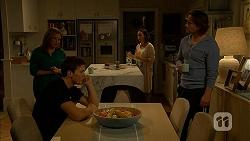 Terese Willis, Josh Willis, Imogen Willis, Brad Willis in Neighbours Episode 6978