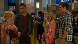 Sheila Canning, Nate Kinski, Georgia Brooks, Kyle Canning in Neighbours Episode 6979