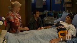 Sheila Canning, Nate Kinski, Chris Pappas in Neighbours Episode 6979