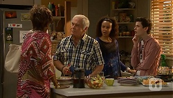 Layla Azikewe, Lou Carpenter, Alice Azikiwe, Bailey Turner in Neighbours Episode 6984