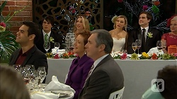 Nate Kinski, Chris Pappas, Sharon Canning, Susan Kennedy, Karl Kennedy, Georgia Brooks, Kyle Canning, Sheila Canning in Neighbours Episode 6986