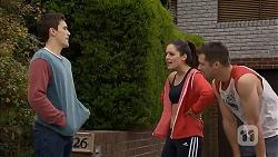 Josh Willis, Paige Smith, Mark Brennan in Neighbours Episode 6988