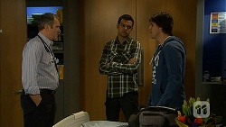 Karl Kennedy, Nate Kinski, Chris Pappas in Neighbours Episode 6989