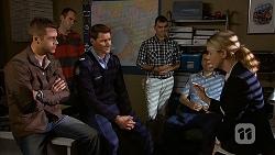 Mark Brennan, Matt Turner, Federal Agent Greta Jackson in Neighbours Episode 6990