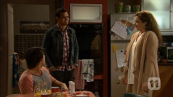 Chris Pappas, Nate Kinski, Patricia Pappas in Neighbours Episode 6991