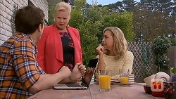 Kyle Canning, Sheila Canning, Georgia Brooks in Neighbours Episode 6996