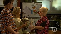 Kyle Canning, Georgia Brooks, Sheila Canning in Neighbours Episode 6996