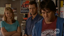 Danni Ferguson, Mark Brennan, Chris Pappas in Neighbours Episode 6996