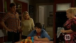Kyle Canning, Georgia Brooks, Chris Pappas, Sheila Canning in Neighbours Episode 6997