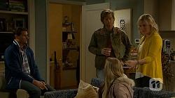 Matt Turner, Daniel Robinson, Amber Turner, Lauren Turner in Neighbours Episode 6998