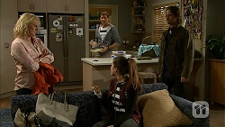 Lauren Turner, Matt Turner, Paige Smith, Brad Willis in Neighbours Episode 6999