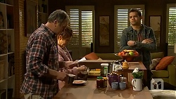 Karl Kennedy, Susan Kennedy, Nate Kinski in Neighbours Episode 7000