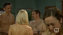 Niklas Kruger, Gretchen Kruger, Toadie Rebecchi, Sonya Mitchell in Neighbours Episode 7000