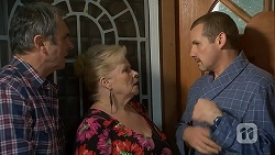 Karl Kennedy, Sheila Canning, Toadie Rebecchi in Neighbours Episode 7000