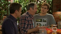 Paul Robinson, Karl Kennedy, Kyle Canning in Neighbours Episode 7000