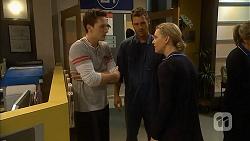 Josh Willis, Mark Brennan, Georgia Brooks in Neighbours Episode 7002