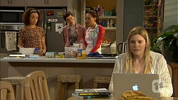 Alice Azikiwe, Bailey Turner, Paige Smith, Amber Turner in Neighbours Episode 7002