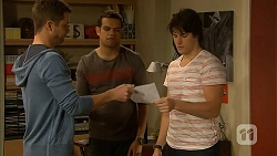 Mark Brennan, Nate Kinski, Chris Pappas in Neighbours Episode 7002