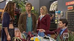 Rain Taylor, Daniel Robinson, Amber Turner, Bailey Turner in Neighbours Episode 7004