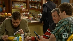 Mark Brennan, Karl Kennedy, Kyle Canning in Neighbours Episode 7004