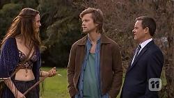 Rain Taylor, Daniel Robinson, Paul Robinson in Neighbours Episode 7004