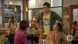 Susan Kennedy, Kyle Canning, Sonya Rebecchi in Neighbours Episode 7004