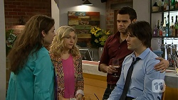 Patricia Pappas, Georgia Brooks, Nate Kinski, Chris Pappas in Neighbours Episode 7009