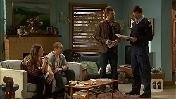 Sonya Mitchell, Toadie Rebecchi, Mark Brennan, Matt Turner in Neighbours Episode 7010