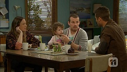 Sonya Mitchell, Nell Rebecchi, Toadie Rebecchi, Mark Brennan in Neighbours Episode 7010