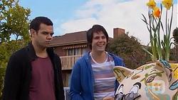 Nate Kinski, Chris Pappas in Neighbours Episode 7013