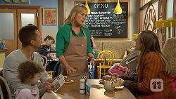 Nell Rebecchi, Mark Brennan, Lauren Turner, Sonya Rebecchi in Neighbours Episode 7014