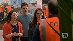 Imogen Willis, Josh Willis, Paige Smith, Barry Burdett in Neighbours Episode 7014